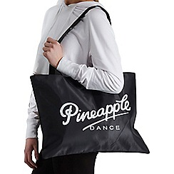 Pineapple - Black Shopper Tote Bag