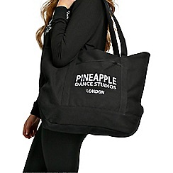 Pineapple - Black canvas tote dance bag