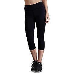 Pineapple - Black Studio Panel Crop Leggings