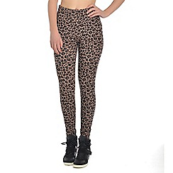 Pineapple - Brown Monroe animal print leggings