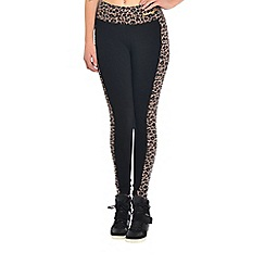 Pineapple - Black animal panel leggings