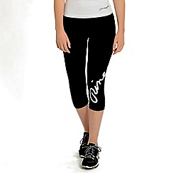 Pineapple - Black wrap logo capri trousers