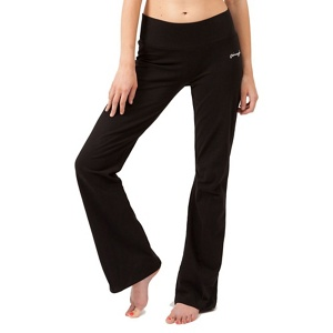 Pineapple Black bootcut jersey trousers