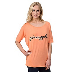 Pineapple - Orange viscose tee