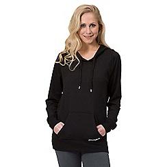 Pineapple - Black script longline hoodie