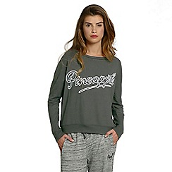 Pineapple - Grey long sleeve retro jumper