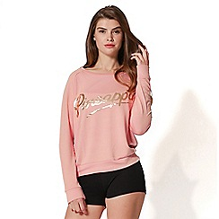 Pineapple - Pink retro jumper