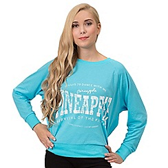 Pineapple - Blue long sleeve top