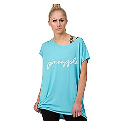 Pineapple - Blue slouchy tee