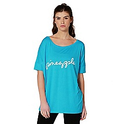 Pineapple - Blue viscose t-shirt