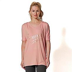 Pineapple - Pink v-neck t-shirt