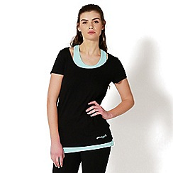 Pineapple - Black double layer sports top