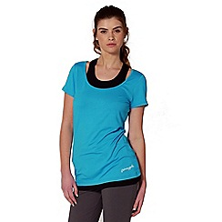 Pineapple - Blue double layer sports top