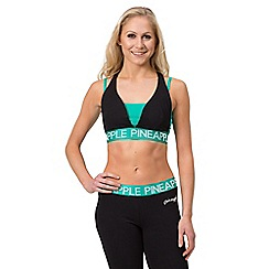 Pineapple - Black band racer bra top