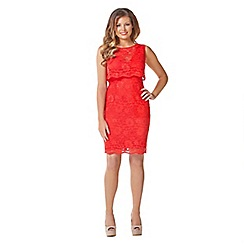 Jessica Wright - Red 'Lucia' lace dress