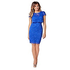 Jessica Wright - Blue 'Lucinda' lace midi dress