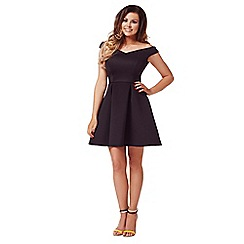 Jessica Wright - Black 'Amelia' off the shoulder skater dress