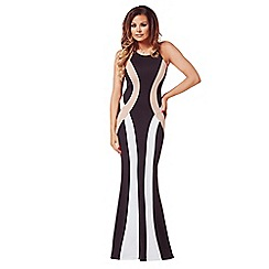 Jessica Wright - Black & white 'Jordana' monochrome maxi dress