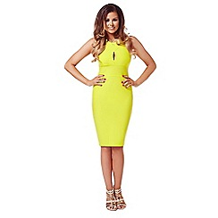 Jessica Wright - Yellow 'Alexia' midi bodycon dress