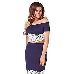 Jessica Wright - Navy 'Mia' off the shoulder top