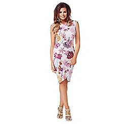 Jessica Wright - Multicoloured 'Ariella' floral cap sleeve dress