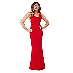 Jessica Wright - Red 'Veronica' ruched maxi dress