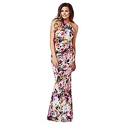Jessica Wright - Purple 'Francesca' floral maxi dress