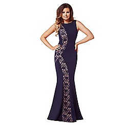 Jessica Wright - Navy 'Tiffany' lace panel maxi dress