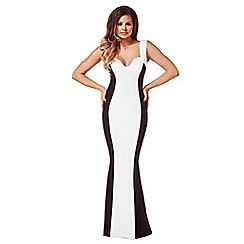 Jessica Wright - Black & white 'Natalie' monochrome maxi dress