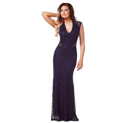 Jessica Wright Navy Becky sequin maxi dress