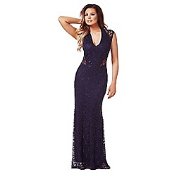 Jessica Wright - Navy 'Becky' sequin maxi dress