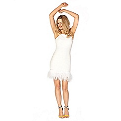 Lipstick Boutique - White 'Fleur' body-con dress