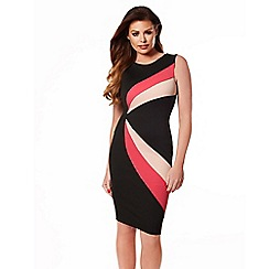 Jessica Wright - Multicoloured 'Henrietta' block bodycon dress.