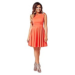 Jessica Wright - Coral 'freya' skater dress