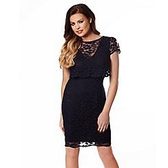 Jessica Wright - Navy 'Orla' lace midi dress
