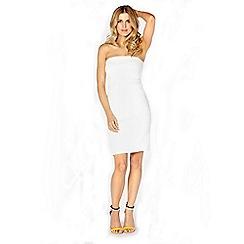 Lipstick Boutique - White 'Kim' strapless bandage dress