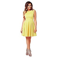 Jessica Wright - Yellow 'Freya' skater dress