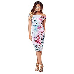 Jessica Wright - Multicoloured 'Lora' bardot dress