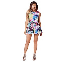 Jessica Wright - Multicoloured 'Tilly' 2 in 1 playsuit