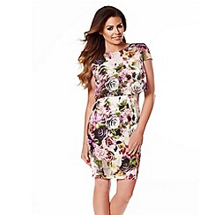 Jessica Wright - Pink floral 'Kylie' midi dress