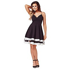 Jessica Wright - Monochrome 'Lula' skater dress