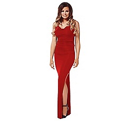 Jessica Wright for Sistaglam - Red 'Audrina' maxi dress