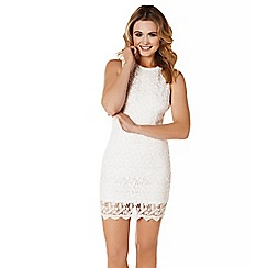 Lipstick Boutique - White 'Amber' crochet lace dress