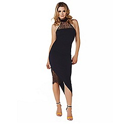 Lipstick Boutique - Black 'kelis' maxi halterneck dress