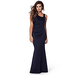 Jessica Wright - Navy 'Veronica' ruched maxi dress