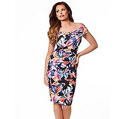 Jessica Wright - Multicoloured tropical 'Cara' bodycon dress
