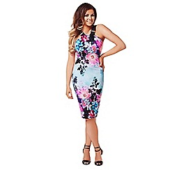 Jessica Wright - Multicoloured 'Antonia' midi bodycon print dress