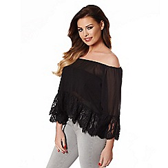 Jessica Wright - Black 'Brandi' chiffon top