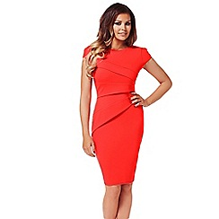 Jessica Wright - Red 'Vicky' bodycon midi dress