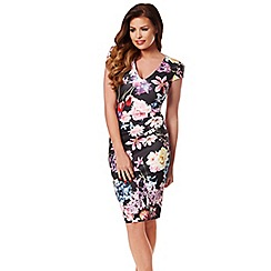 Jessica Wright - Multicoloured 'Abi' midi bodycon print dress
